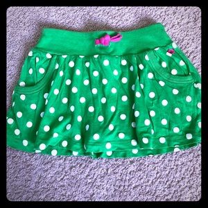 Carters skort size 4t, green with white polka dots